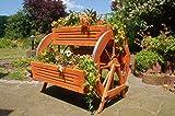 Deko-Shop-Hannusch Blumentreppe, Blumenbank, Pflanztreppe 95cm Breite aus Holz, vollständig behandelt in braun