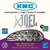 KMC Chain X-10-EL Cadena Estrecha, Unisex, Gris, 114 eslabones