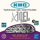 KMC Chain X-10-EL Cadena Estrecha, Unisex adulto, Gris, 114 eslabones
