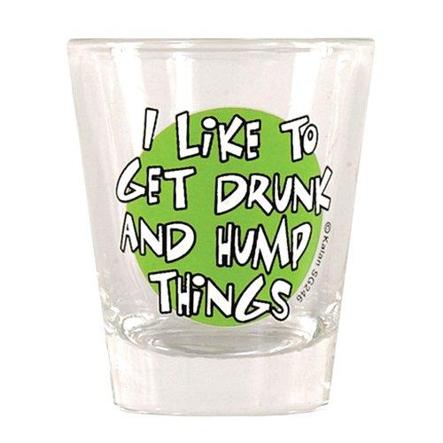 Shot Gläser Bachelorette (I like to get drunk & amp; Hump Dinge Shot)