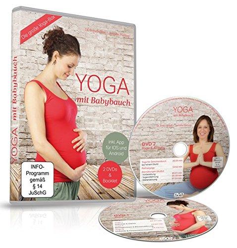 Yoga mit Babybauch [2 DVDs] ++ Die große Yoga-Box ++ Jetzt plus App ++ Trainiere wo du willst - Für Schwangerschaft Yoga Die