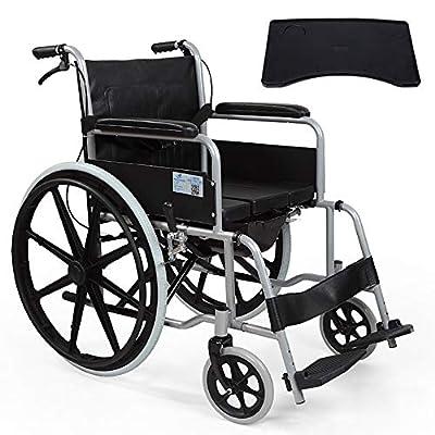 Wheelchair Comfortable Multifunctional Lightweight Folding Transport Travel Self-propelled Portable Manual Elderly Disabled Travel Wheelchair With Bedpen