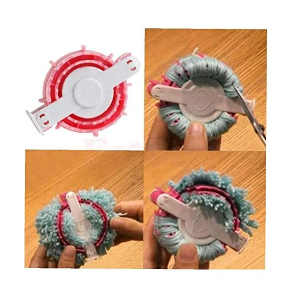 En Forma de corazón de Pom Pom Fabricante de la Pelusa de la Bola Tejedor Que Hace Punto de Craf Herramienta pequeña… 4