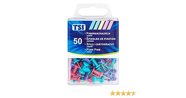 TSI 48357 colori pastello 50 pz Spille da bacheca