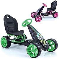 Hauck Go-Kart Sirocco für Kinder von 4-12 Jahren , Tretauto mit automatischer Freilaufschaltung , Verstellbarer Schalensitz , Kugelgelagerte Räder , EVA-Bereifung