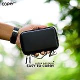 OOPER Premium Shockproof Portable Hard Disk Case For USB 3.0 Portable External Hard Drive Storage, Black