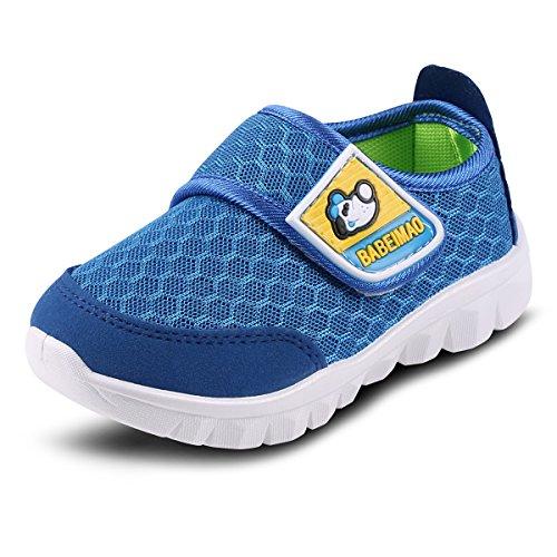 Outdoor Weiche Kinderschuhe Mesh Atmungsaktiv Sportschuhe Mädchen Jungen Turnschuhe Sneaker Leicht Freizeit Baby Schuhe Laufschuhe,Blau 26