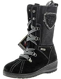 Primigi Benny negro piel/stretch Goretex impermeable botas de la niña, color negro, talla 33 EU