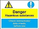 coshh Schilder-Gefahr Gefahrstoffe/Daten Blatt Safety Sign Schild aus Aluminium-3mm 300mm x 200mm x 200mm