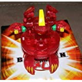 BAKUGAN SEASON 2 EXCLUSIVE NEW LOOSE TRANSLUCENT PYRUS RED ALPHA HYDRANOID 600G by Bakugan