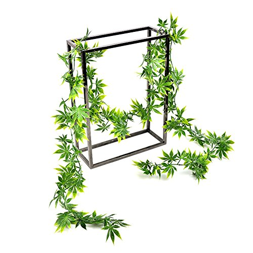 Meiwo 2Packs 97Zoll Ahornblätter Efeu Künstliche Anlage Garland Blätter für Hochzeit Home Indoor Wand Garten Dekoration(Grün) (Indoor-rebe-anlage)
