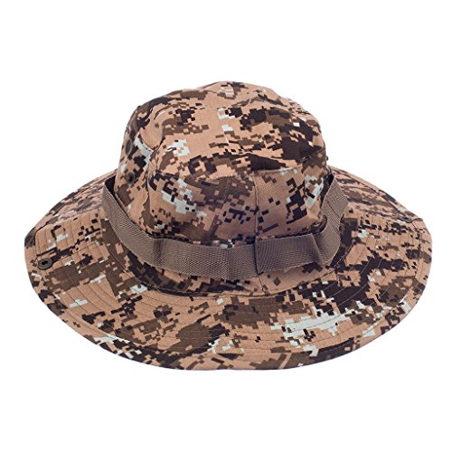 Imported Mens Camo Military Boonie Cap Sun Bucket Brim Army Fishing Hiking Hat #3  available at amazon for Rs.570