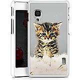 LG Optimus L5 II E460 Hülle Schutz Hard Case Cover Baby Katze Kitty Cat