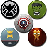 Super Hero Round Pin Button Badge 58mm - Button Badge Shop