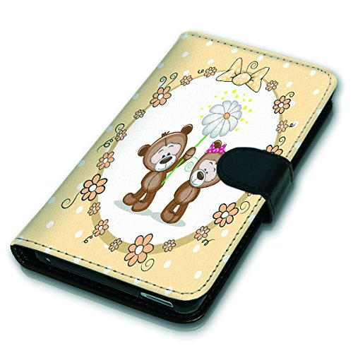 Wallet Book Style Flip Handy Tasche Case Schutz Hülle Schale Motiv Etui für Apple iPhone 4 / 4S - Variante UMV4 Design12 Design 4