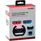 DOBE Controller Direction Manipulate Steering Wheel Grip Handle for Nintendo Switch Joy-Con Controllers - Black