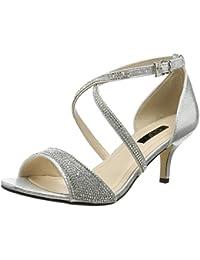 7450f27601c Amazon.co.uk  Kitten Heel - Sandals   Women s Shoes  Shoes   Bags