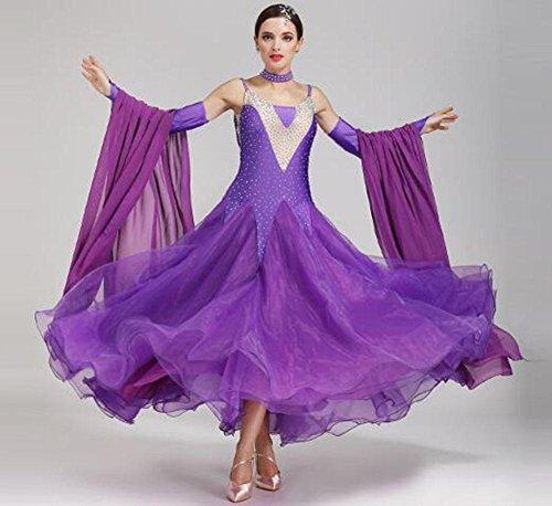 RENMEN Modern Dance Röcke GB Tanzkostüme Ballroom Dance Dress Walzer Tanzrock, (Tango Tänzer Kostüme)