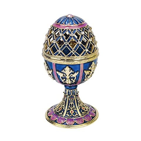 Design Toscano Jeweled Trellis Faberge Style Enameled Egg Collection -