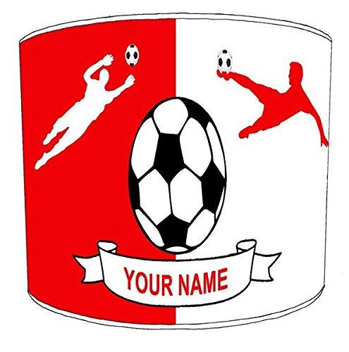 Premier Lighting 20,3cm Deckenleuchte personalisierbar Fußball rot und weiß gestreift Lampenschirme, 30,5 cm -