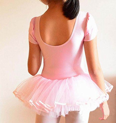 Filles Ballet Gymnastics Tutu Danse Costume pour les enfants Rose
