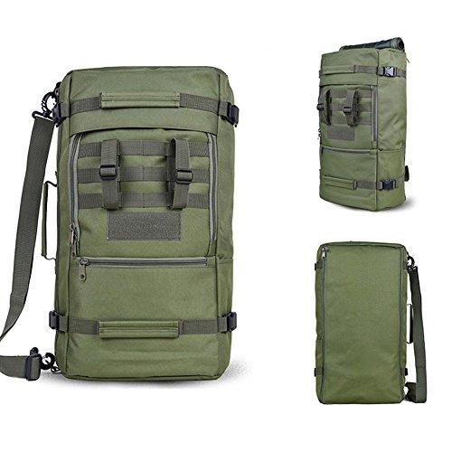 yinggg Leinwand Rucksack Herren Casual Daypacks Travel Tasche für Wandern/Camping/Outdoor Grün