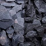Canadian Slate schwarz, 30-60er Korn, Edelsplitte von GSH - 20 kg/Sack