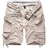 DELTA Division Herren Cargo Shorts, Off White, L