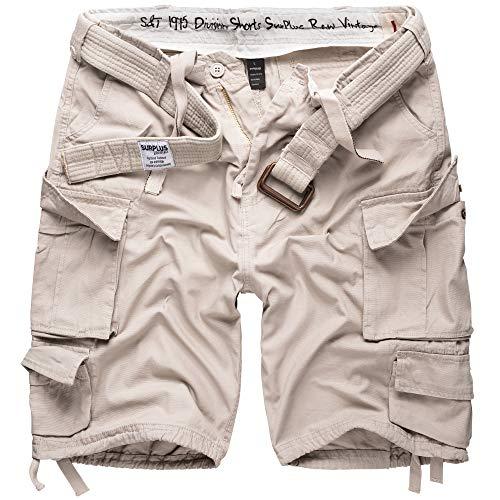 DELTA Division Herren Cargo Shorts, Off White, XL - White Cargo