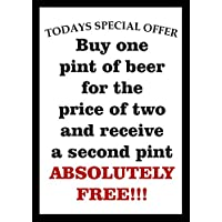 P4235 TODAY'S SPECIAL PUB BEER BAR VINTAGE STYLE VINTAGE STYLE NOSTALGIC POSTER PRINT preiswert