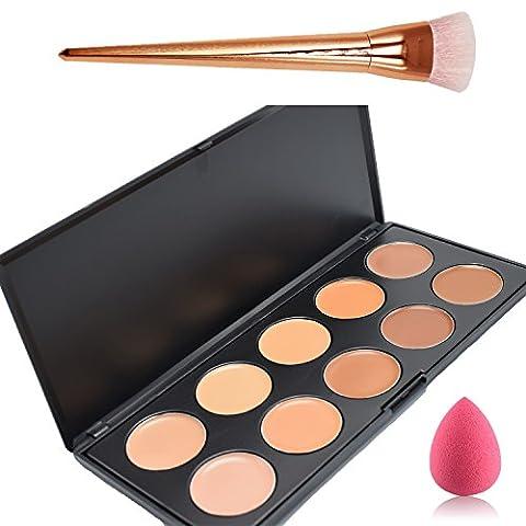 Lover Bar Cream Contour Kit-10 Colour Makeup Concealer Palette-Sleek Cosmetics Professional Base Foundation-Blemish Face Contouring (Blemish Base)