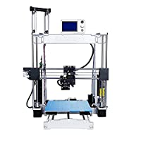 RAISCUBE A8R Desktop 3D Printer DIY Kit with LCD Screen Display 3D Printer Metal Frame Aluminum Alloy Structure Size 210 * 210 * 225 mm(Update New Generation R2)