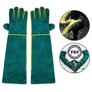 AUOKER Animal Handling Gloves Bite Proof, Durable Bite Resistant Gloves for Bathing, Grooming, Handling Dog/Cat/Bird/Snake/Parrot/Lizard/Reptile - Scratch/Bite Resistant Protection Gloves