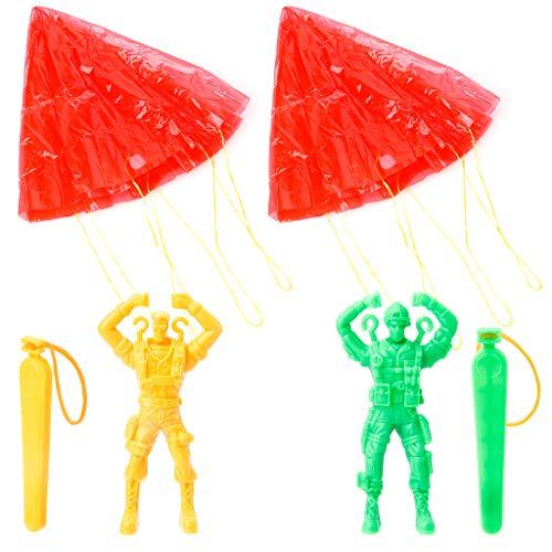 LANDUM 2 Stück Hand Fallschirm Kite Surf Spielzeug werfen und Drop Outdoor Fun Sport Kinder ToyChristmas Neujahr Geschenk, 1 Stück, zufällige Lieferung