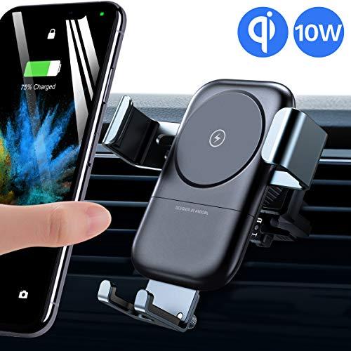 andobil Handyhalter fürs Auto, automatische-klemmung Qi 7,5W/10W fast Charging Wireless Ladestation auto Halterung Ultra stabil Lüftung KFZ Halterug für iPhone 11/11 Pro/Samsung Galaxy Note 10/S10 Usw