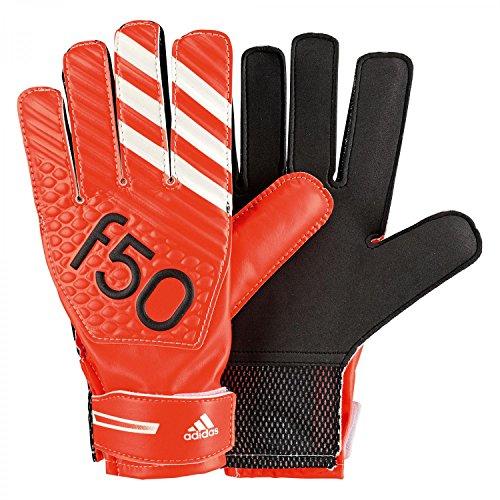 Adidas, Guanti da portiere F50 Training, colore rosso (solar red/white/black), taglia 11