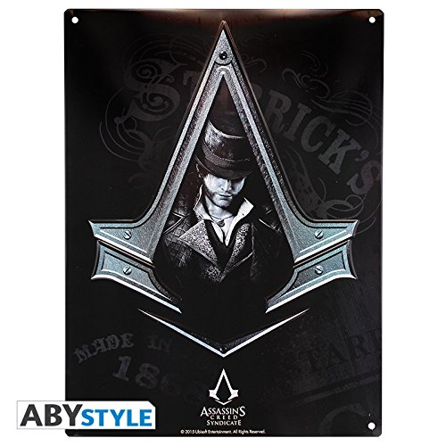Placa metálica Assassin's Creed Syndicate, Jacob Frye