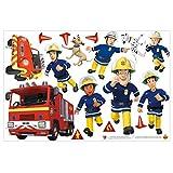 Bilderwelten Wandtattoo - Feuerwehrmann Sam - Helden, 30cm x 45cm