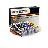 OBENO - 1 Set - 33XL T33XL 5 Pack Kompatibel für Druckerpatronen EPSON Expression Premium XP-530/540/630/635/640/645/830/900(1X T3351Schwarz, 1X T3361Foto Schwarz, 1X T3362Cyan, 1X T3363M, 1X T3364G)