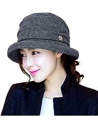 af6fbd1a0a2 Ladies Wool Felt Cloche Hat Winter Hats for Women 1920s Vintage Fedora  Bowler Bucket Hat Packable