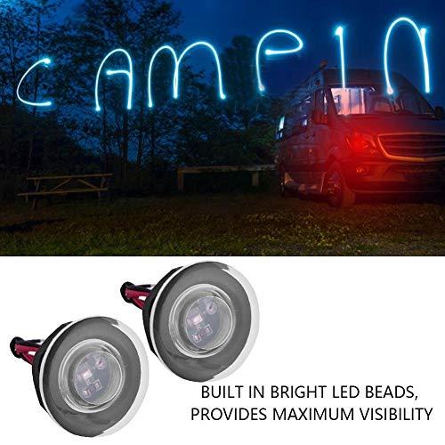 KIMISS 1 Coppia Lampade LED DC 12V a LED con luce rotonda per scale caravan per caravan Marine Boat(rosso /)
