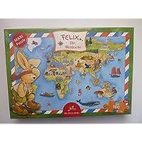 Spiegelburg 20580 Felix Maxipuzzle Die Weltkarte