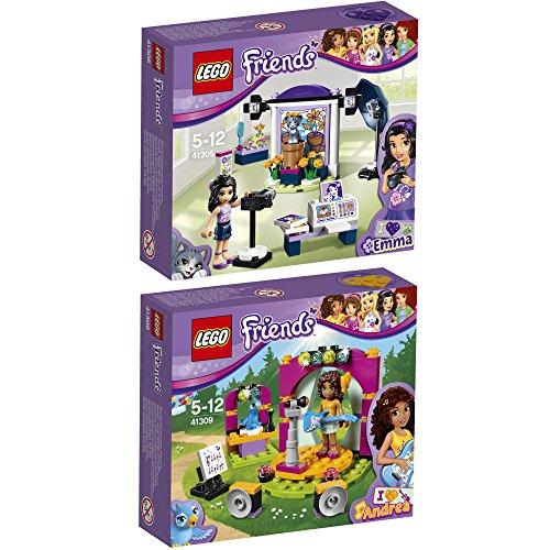 Preisvergleich Produktbild Lego Friends 2er Set 41305 41309 Emmas Fotostudio + Andreas Showbühne