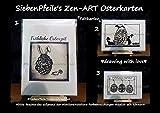 SiebenPfeile's einzigARTige Zen-ART Oster Grußkarte / Faltkarte (inspired by Zentangle®)