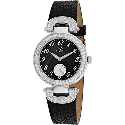 Roberto Bianci Women's Alessandra 31mm Black Leather Band Quartz Watch RB0611