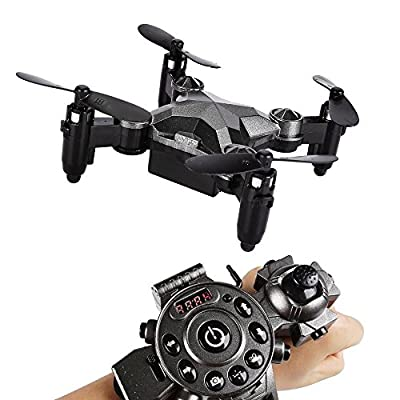 SainSmart Jr. Kids Drone RC Quadcopter Watch Style Remote Control Mini Drone, 2.4G 4CH 4 Axis Headless Mode Portable Pocket Drone for Kids from SainSmart Jr.