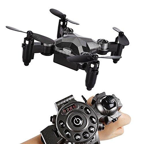 Preisvergleich Produktbild SainSmart Jr. Drohne Mini Drone Armbanduhr Kontrolle 2.4G 4CH 6-Axis 0.3MP Quadrocopter für Kinder ab 14 Jahre Anfänger