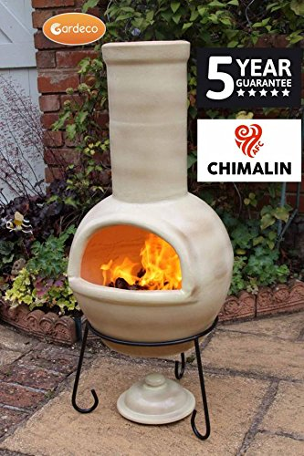 Sempra AFC Clay Chiminea Chimenea (Glazed Light Brown)