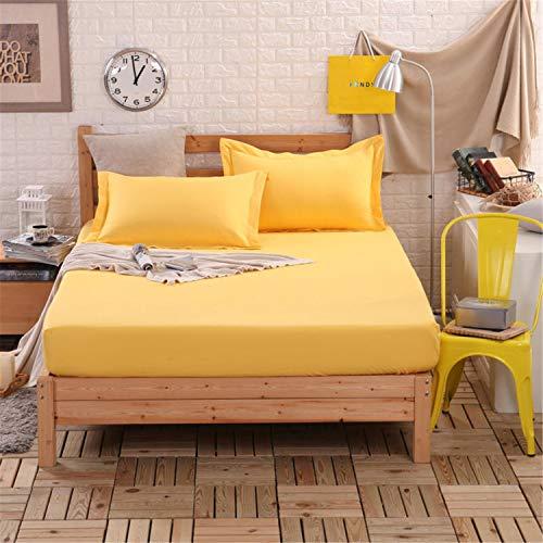 SUYUN Wasserdicht und atmungsaktiv, Doppelbett,Schimmelresistent, Hypoallergener Matratzebezug, Bettdecke aus Baumwolle rutschfest 1 Bett 90x190cm -