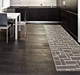 Swedy Teppich Schwedisch Waschbar für Küche mod. DAMA